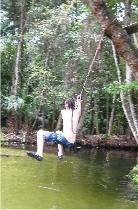 Kayak fahren in Central Florida Zeit für Schwimmen