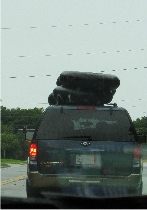 Rock Springs Tubes auf dem Autodach