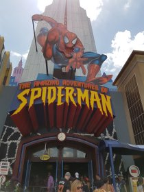 Spiderman in Islands of Adventures