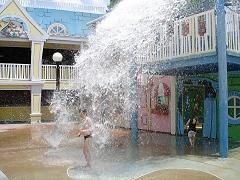 Wasserspielpatz in den Universal Studios